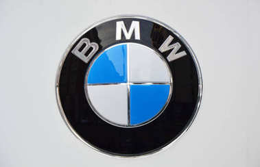 MILAN, ITALY - SEPTEMBER 7, 2017: BMW logo, BMW is a German luxury vehicle, sports car, motorcycle, and engine manufacturing company founded in 1916