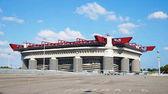 Milan, Olaszország - 2017. szeptember 13.: Stadio Giuseppe Meazza gyakran néven San Siro, egy labdarúgó-stadion, a milánói San Siro kerület, Olaszország, melyik a haza az AC Milan és az Inter Milan