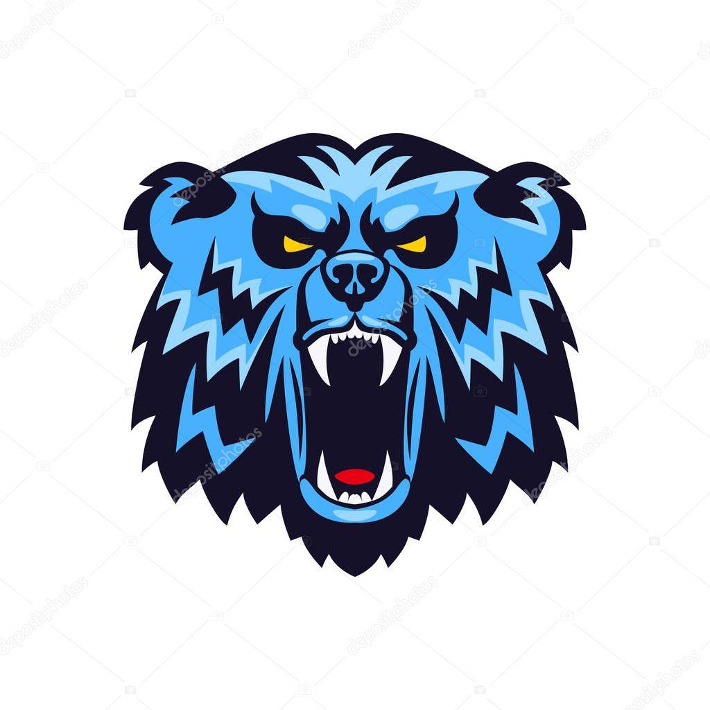 Cabeza De Oso Logo Emblema De Mascota