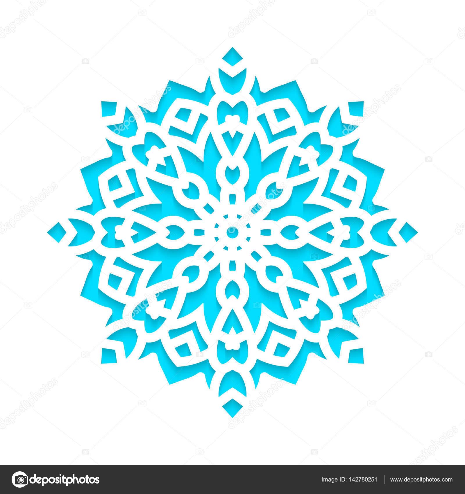 Los copos de nieve plantilla laser corte y grabado — Archivo ...