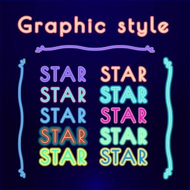 NEON Retro Graphic Styles