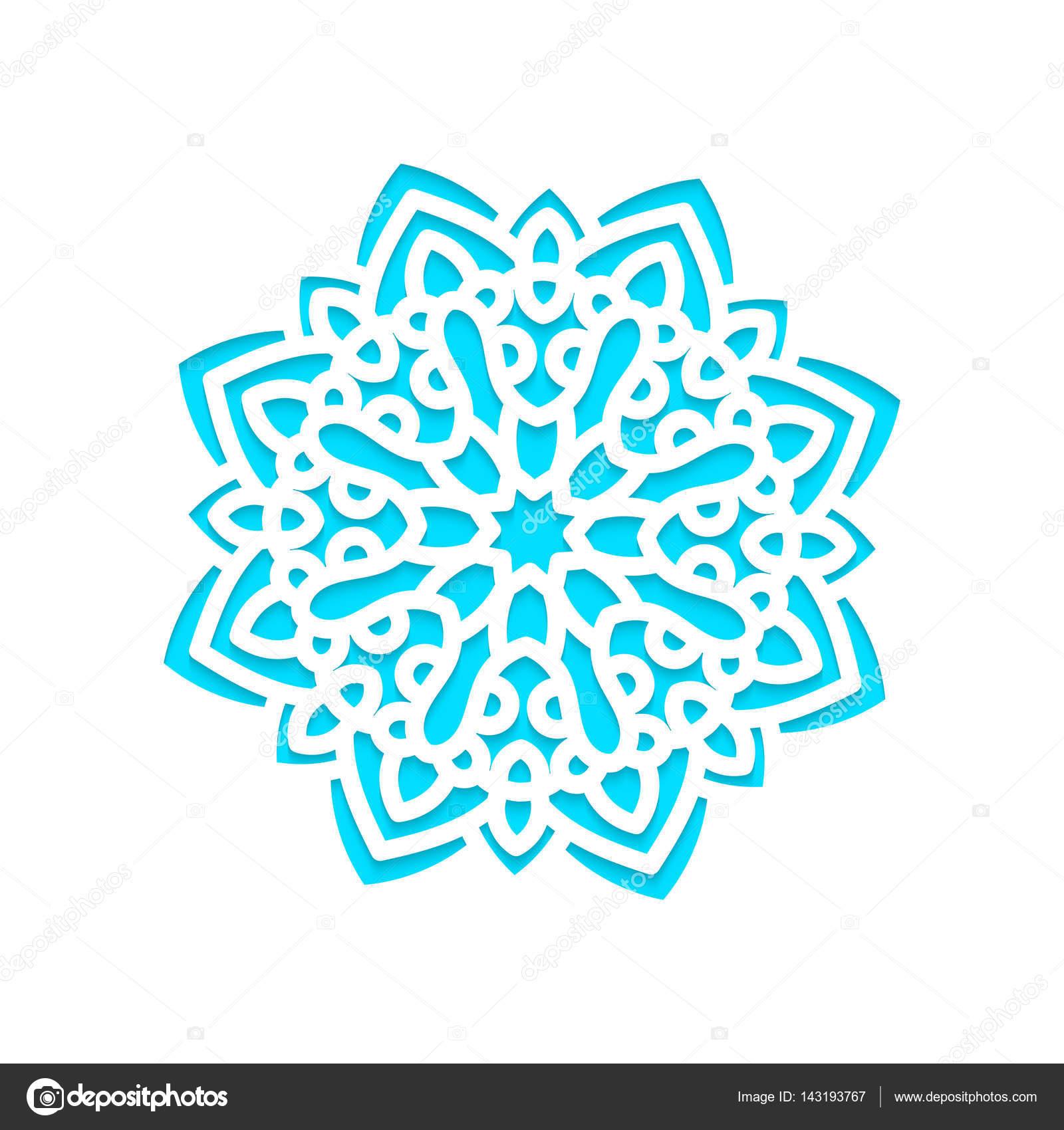 Los copos de nieve plantilla laser corte y grabado — Vector de stock ...