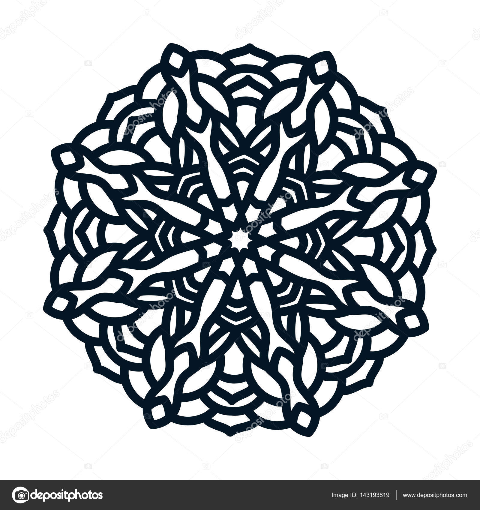 Template snowflakes laser cut and engraved. — Stock Vector ...