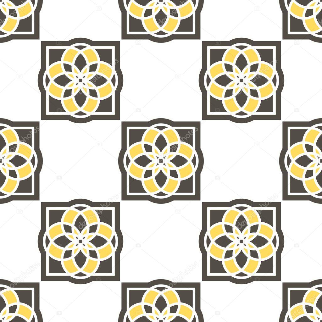 Portuguese azulejo tiles. Seamless patterns.