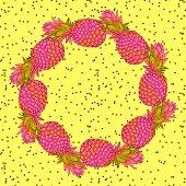 Fotografie Ananas-kreative trendige Kunst-Kranz