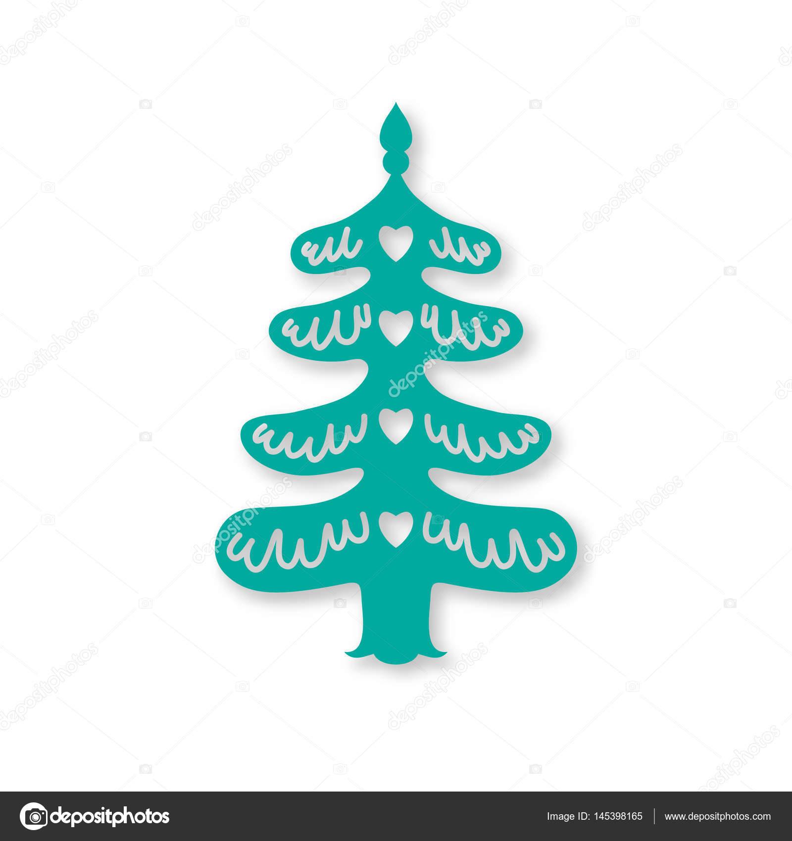 Weihnachtsbaum. Laser-schneiden-Vorlage — Stockvektor © belopoppa ...