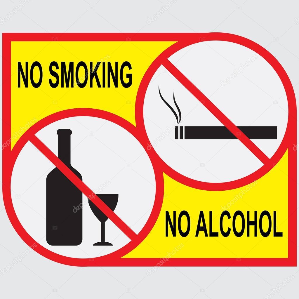 no smoking  no alcohol signs  u2014 stock vector  u00a9 tktyfujvfp