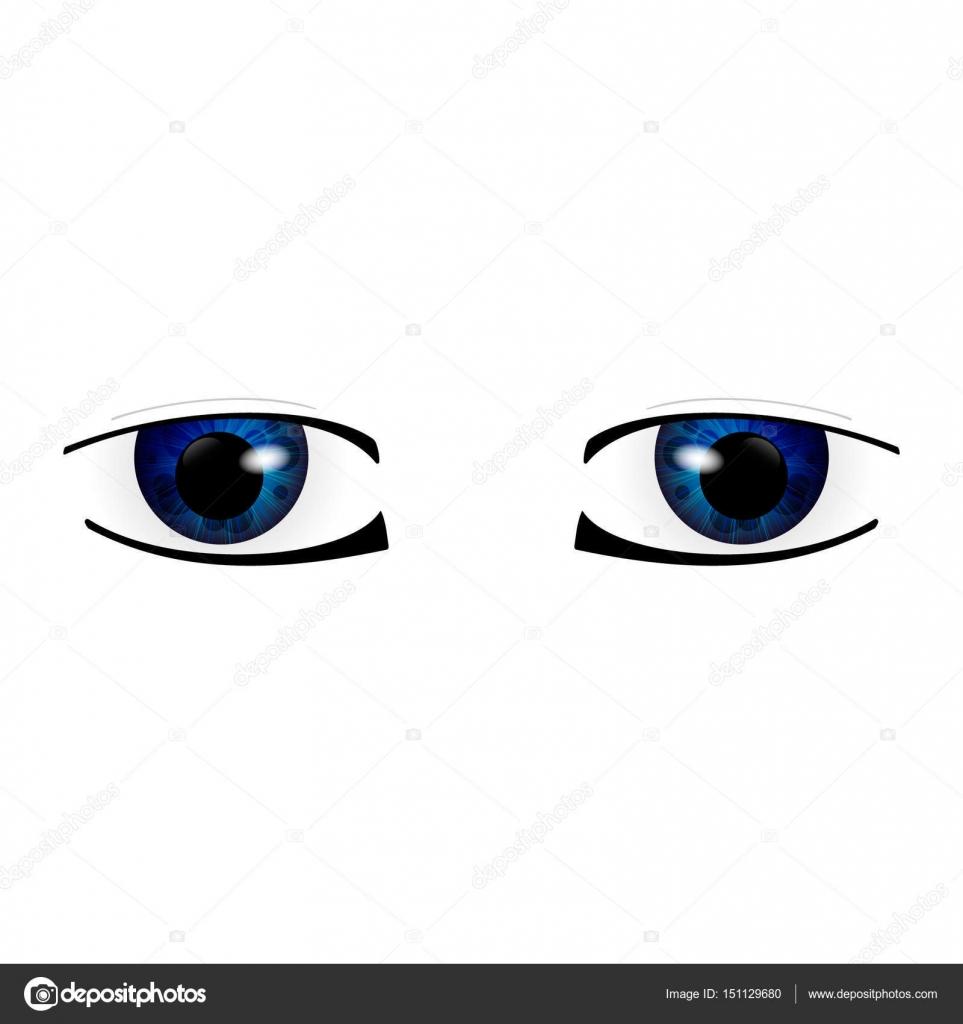Anime Augen Gross Stockvektor