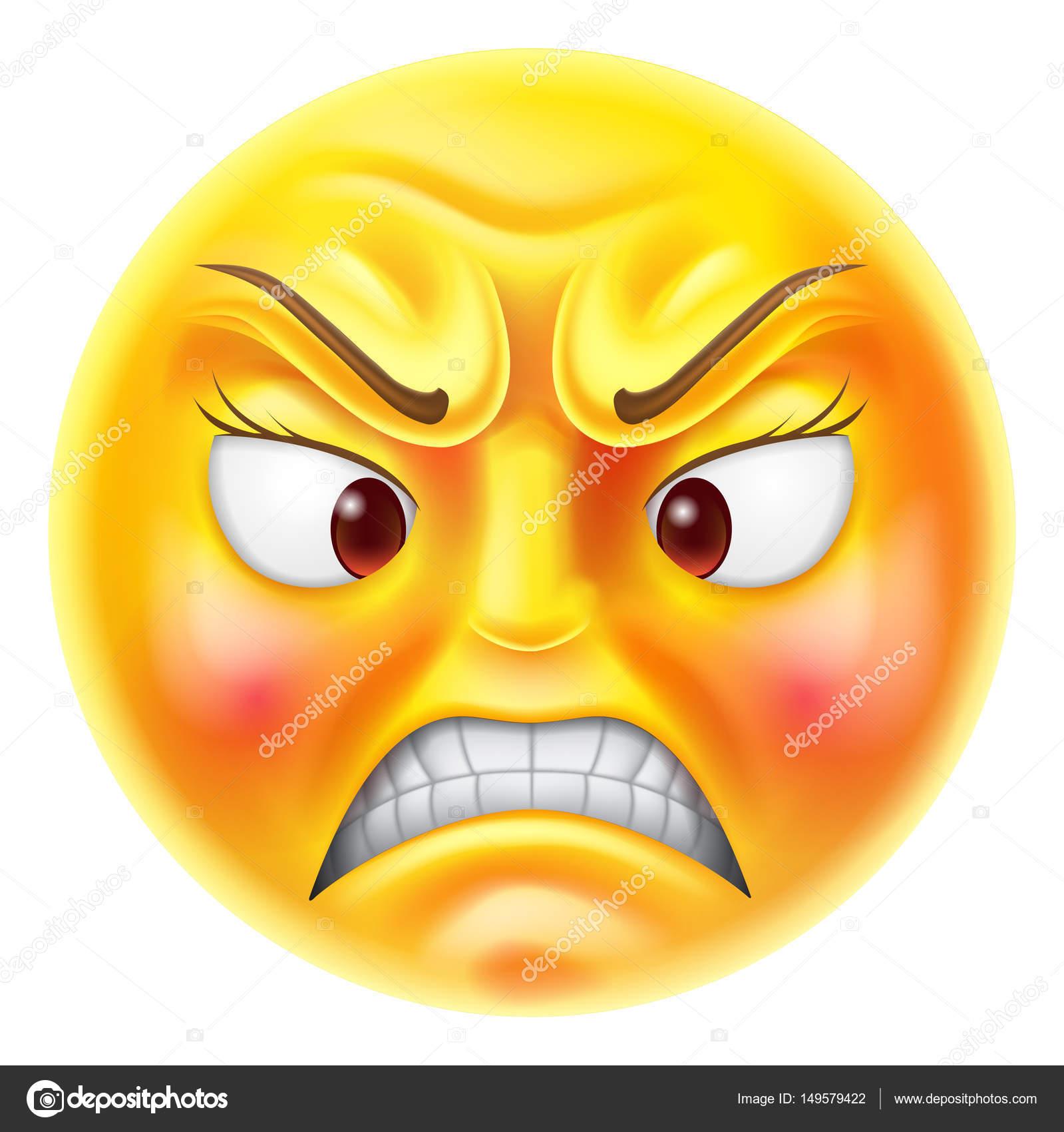 Zły emotikony Emoji — Grafika wektorowa © Krisdog #149579422