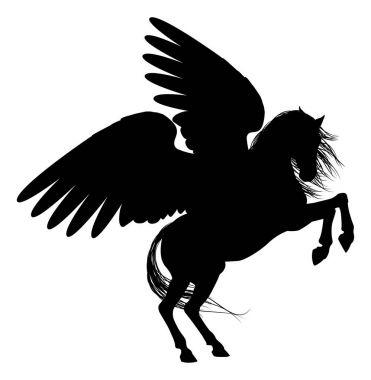 Rearing Pegasus Silhouette
