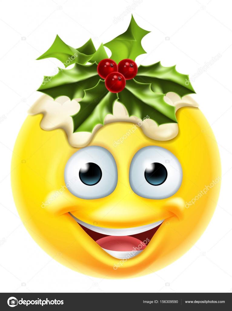 Christmas Pudding Emoticon Emoji