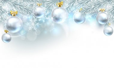 Christmas Bauble Background Top Border