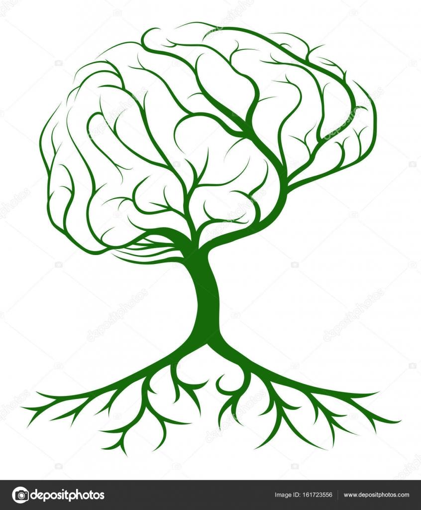 Brain Tree Icon — Stock Vector © Krisdog #161723556