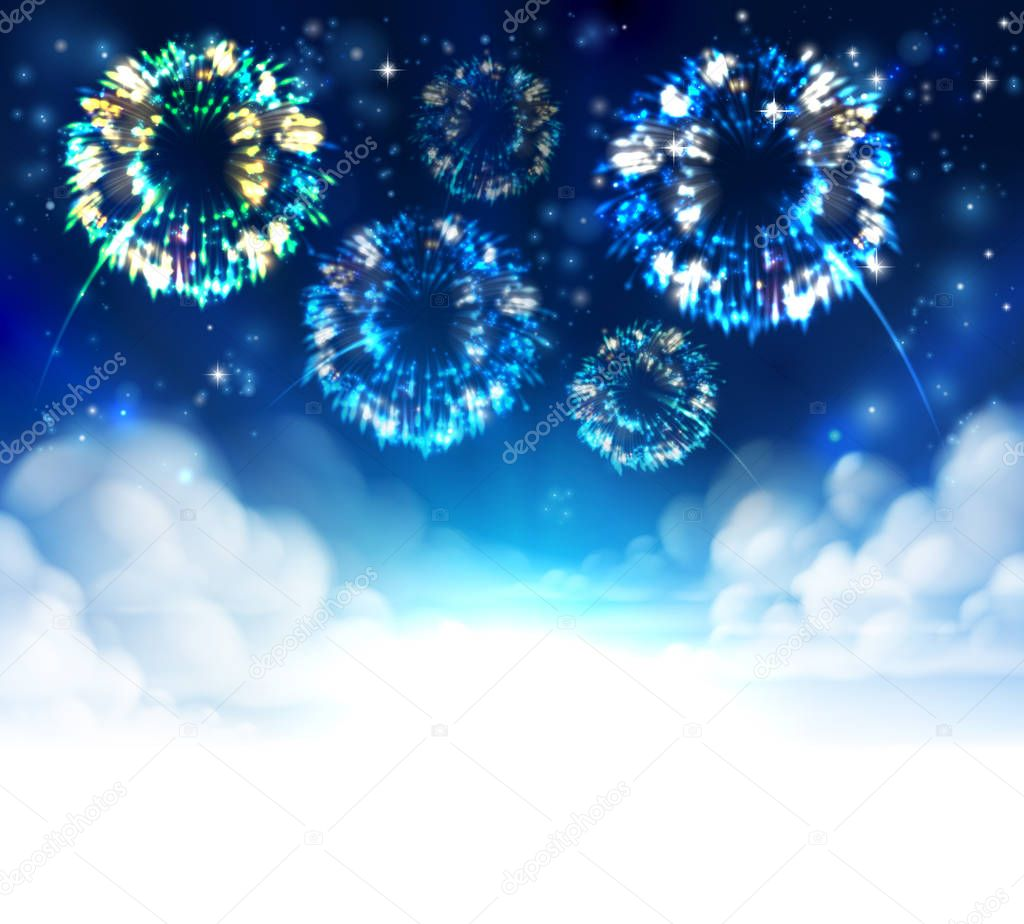 Fireworks Sky Background