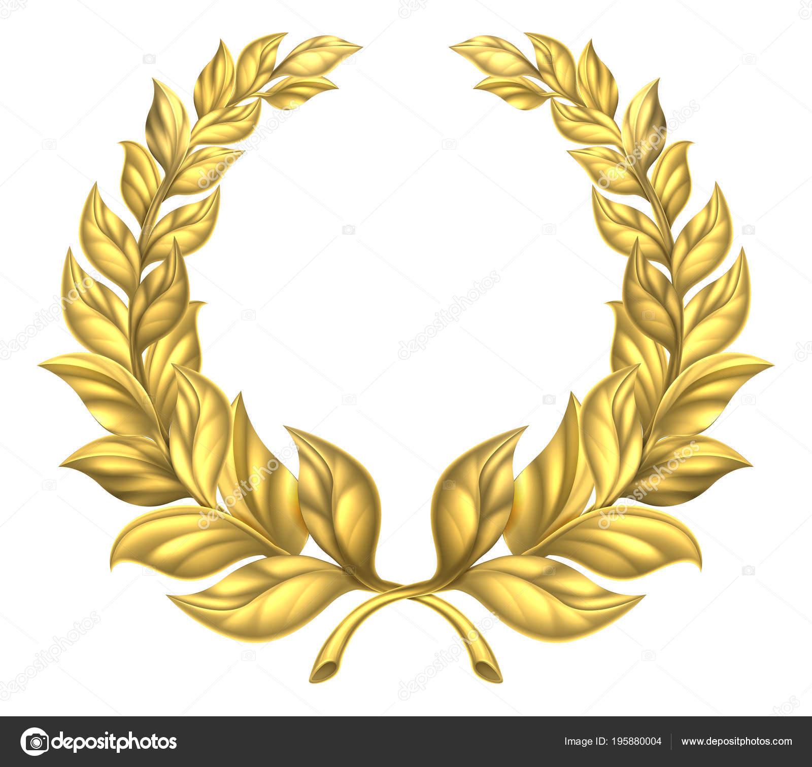 Zlatý vavřínový věnec — Stock Vektor © Krisdog  195880004 4b071c8e0b