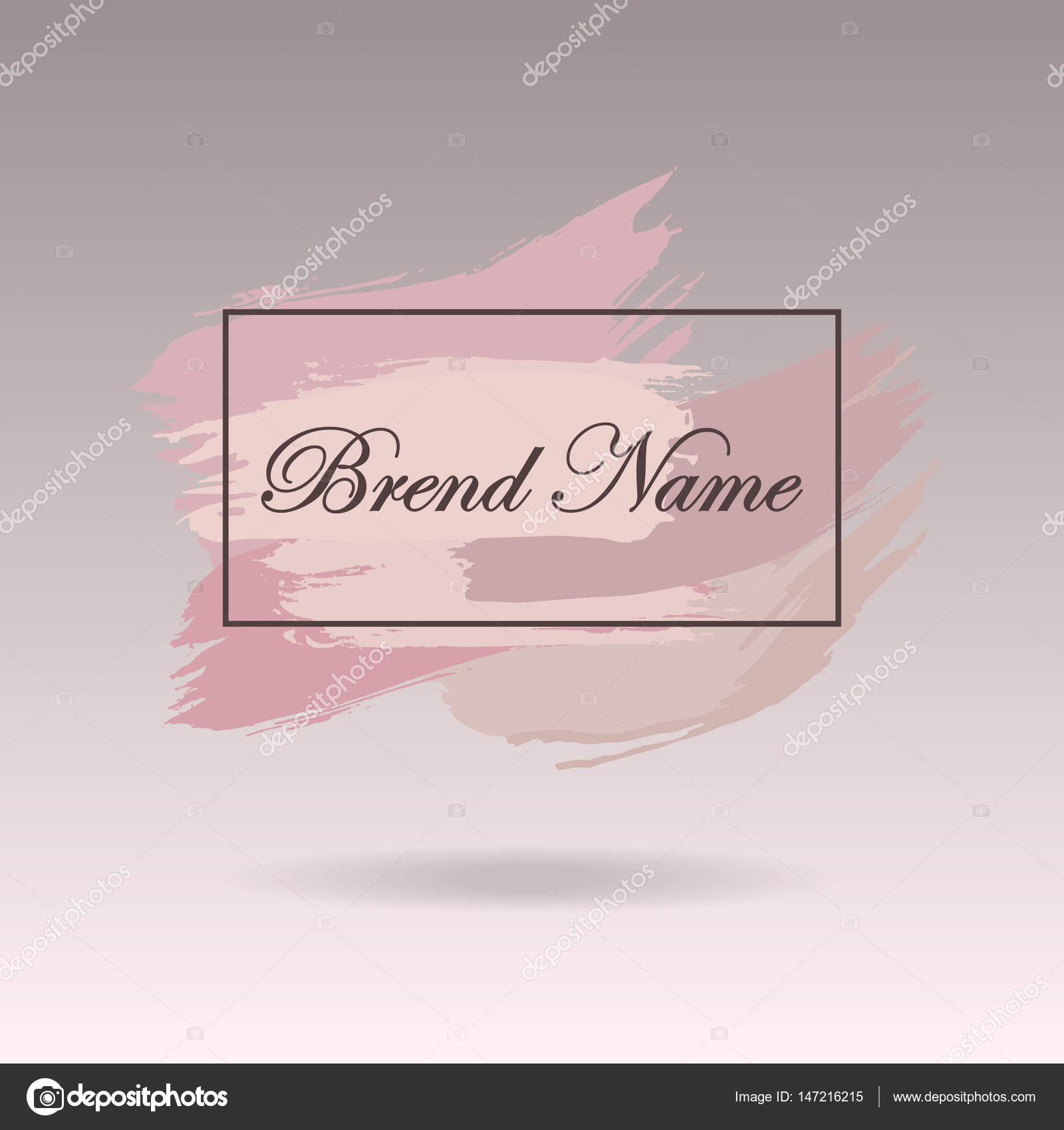 Pre-made Logo design, banner and watermark  Artistic brushes design