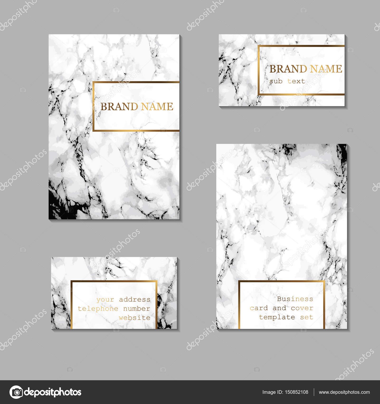 Conjunto de plantillas de tarjeta de visita y la cubierta. Kit de ...