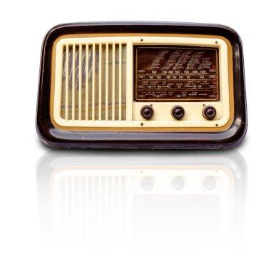 vintage radio on a white background