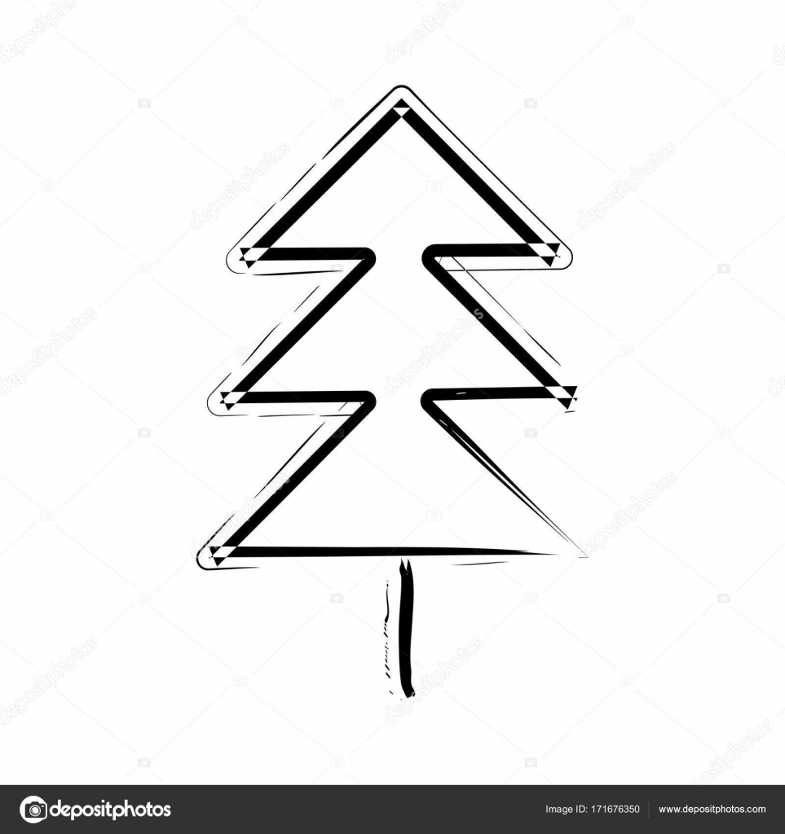 rbol de Navidad mano dibujado Vector icono Archivo Imgenes