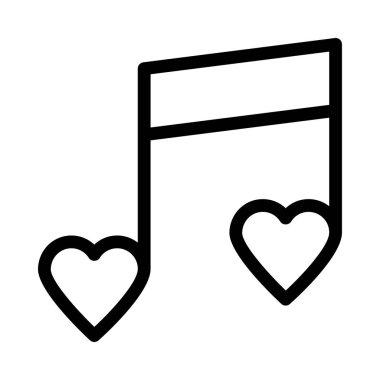MUSIC BOLD LINE VECTOR ICON