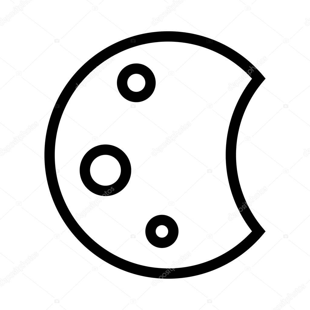 night Vector Line Icon