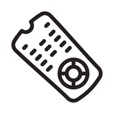TV remote vector thin line icon