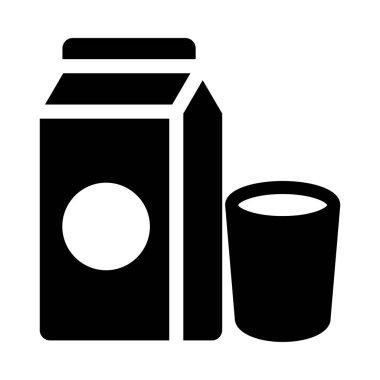 milk vector glyph flat icon