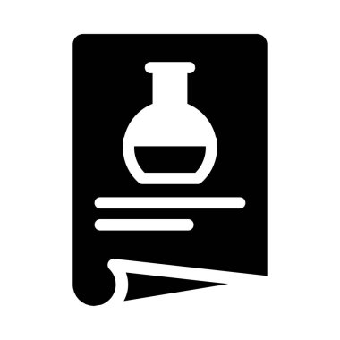 lab vector glyph flat icon