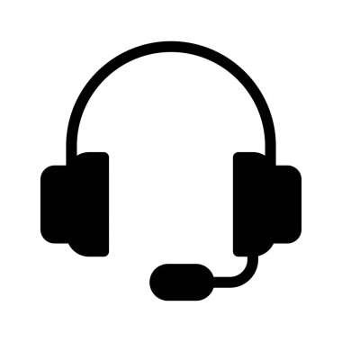 headphone  vector glyph flat icon
