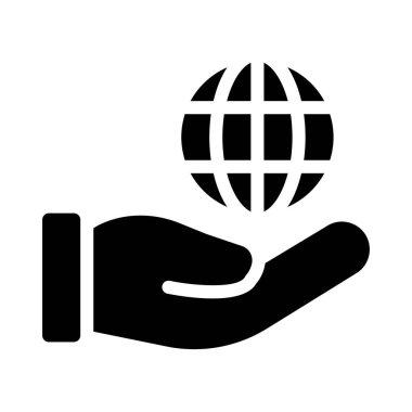 care vector glyph flat icon