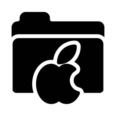 Mac vector glyph  flat icon icon