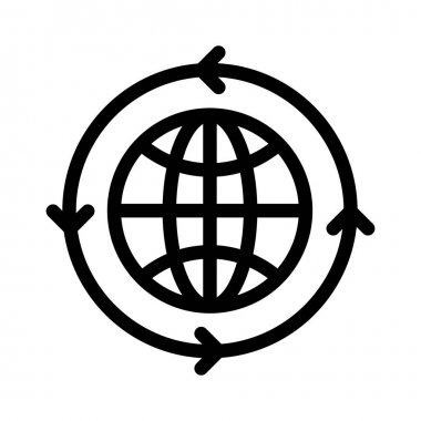world vector thin line icon