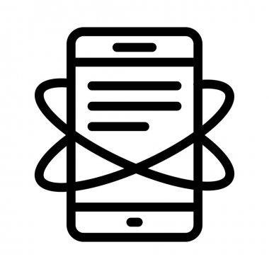phone vector thin line icon