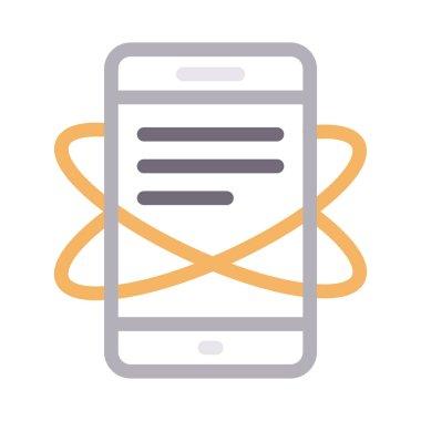phone vector color line icon