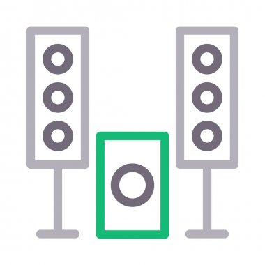 woofer vector flat line  icon