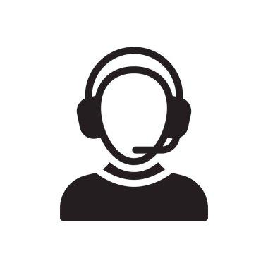 customer care  vector glyph flat icon