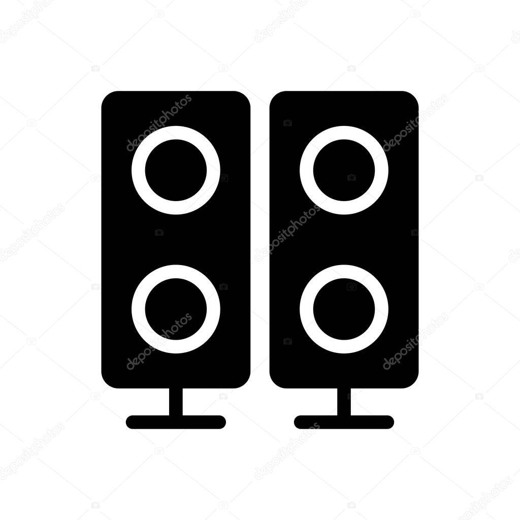 speaker vector glyph flat icon premium vector in adobe illustrator ai ai format encapsulated postscript eps eps format wdrfree