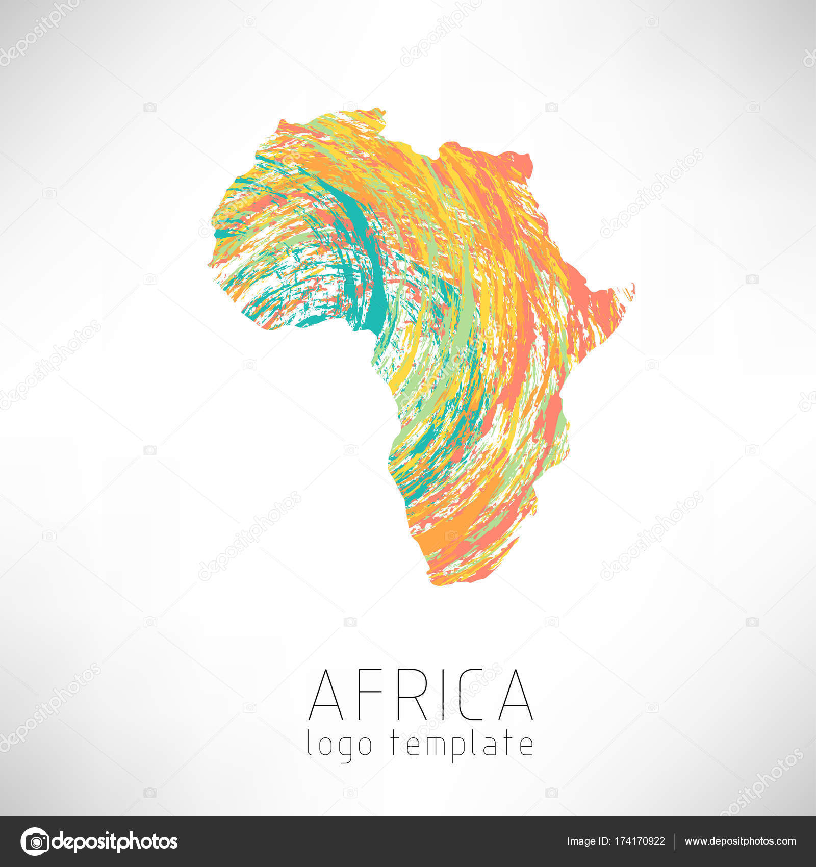 Africa Creative Designed Silhouette Map Continent Stock Vector