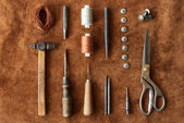 Artisan tools set for leather work