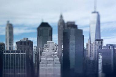 Manhattan urban skyline