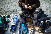 Potápěčské vybavení na stůl
