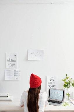 Female freelancer at her desk