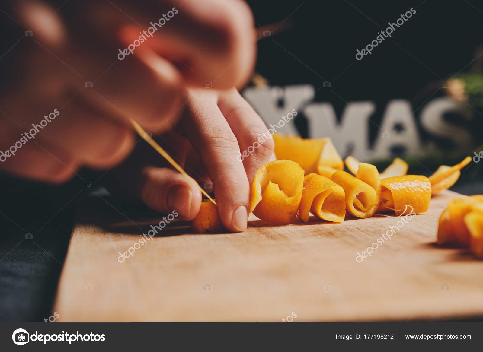 Female Hands Cooking Orange Jam Christmas Gifts — Stock Photo © sata ...