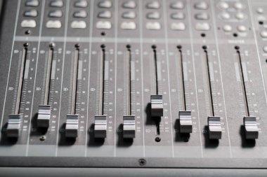 Sound controller in professional studio