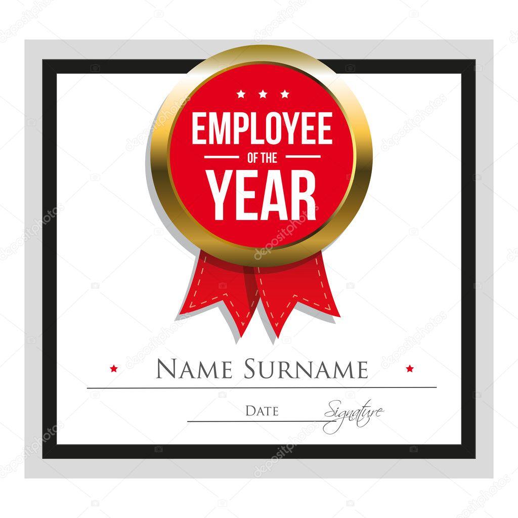 Mitarbeiter der Zertifikatvorlage Jahr — Stockvektor © Grounder ...