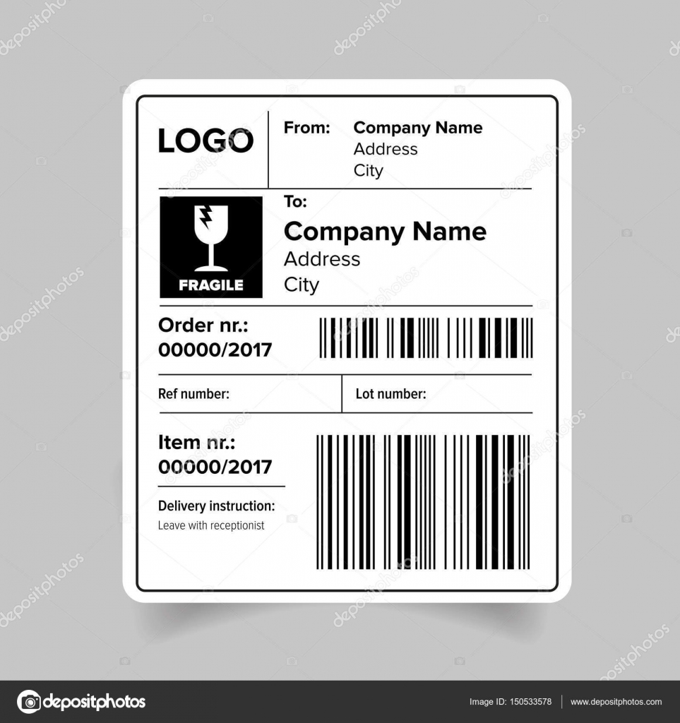Shipping label template — Stock Vector © Grounder #150533578