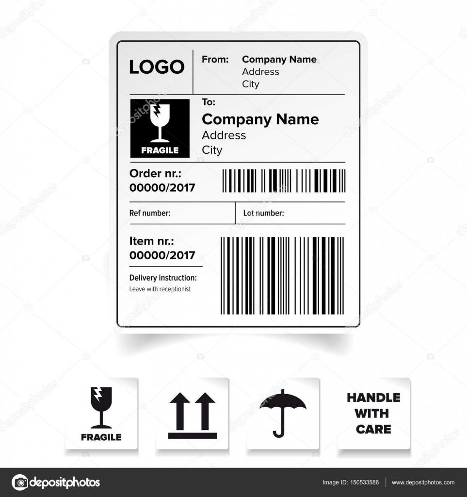 Plantilla de etiqueta de envío — Vector de stock © Grounder #150533586