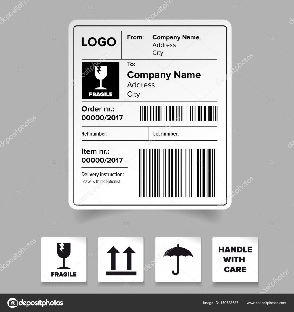 Shipping Label Template Stock Vector Grounder - Address sticker template