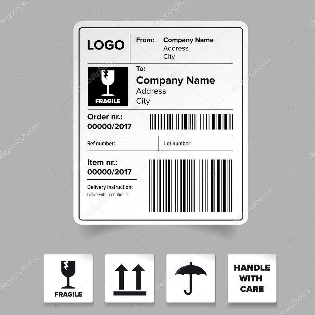 Beste Versand Etikettenvorlage Frei Bilder - Entry Level Resume ...