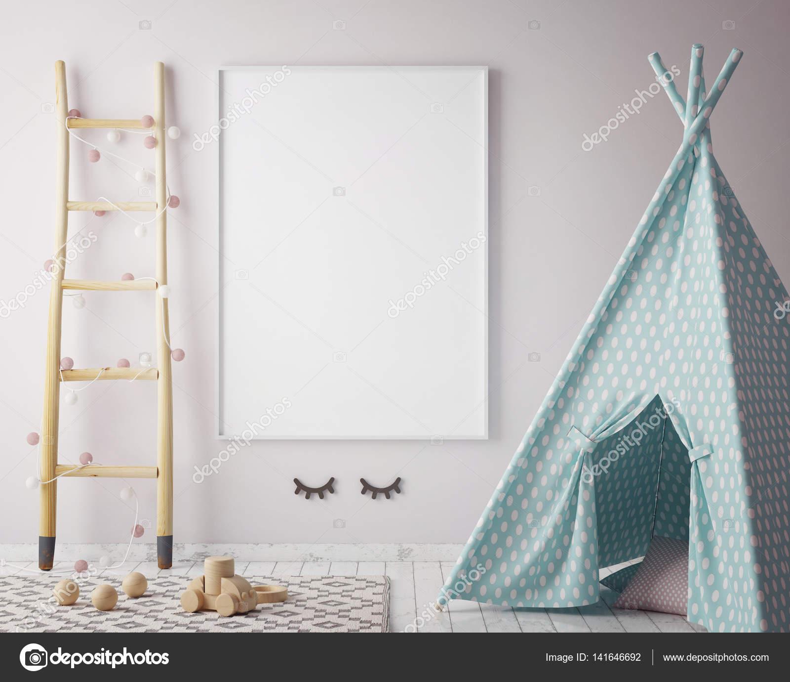 simulacros de fotograma de póster en la habitación de los niños ...
